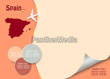 travel spain template vector with page