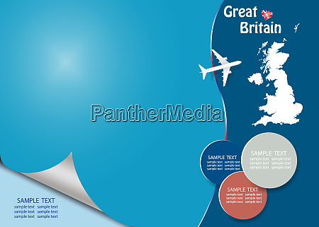 travel great britain template vector with