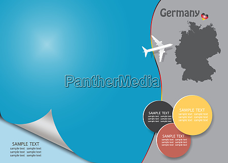 travel germany template vector with page