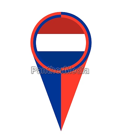 netherlands map pointer location flag
