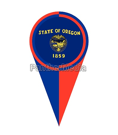 oregon map pointer location flag