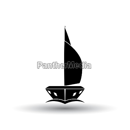 sail yacht icon front view
