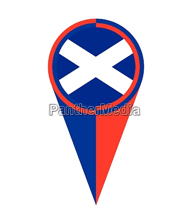 scotland map pointer location flag