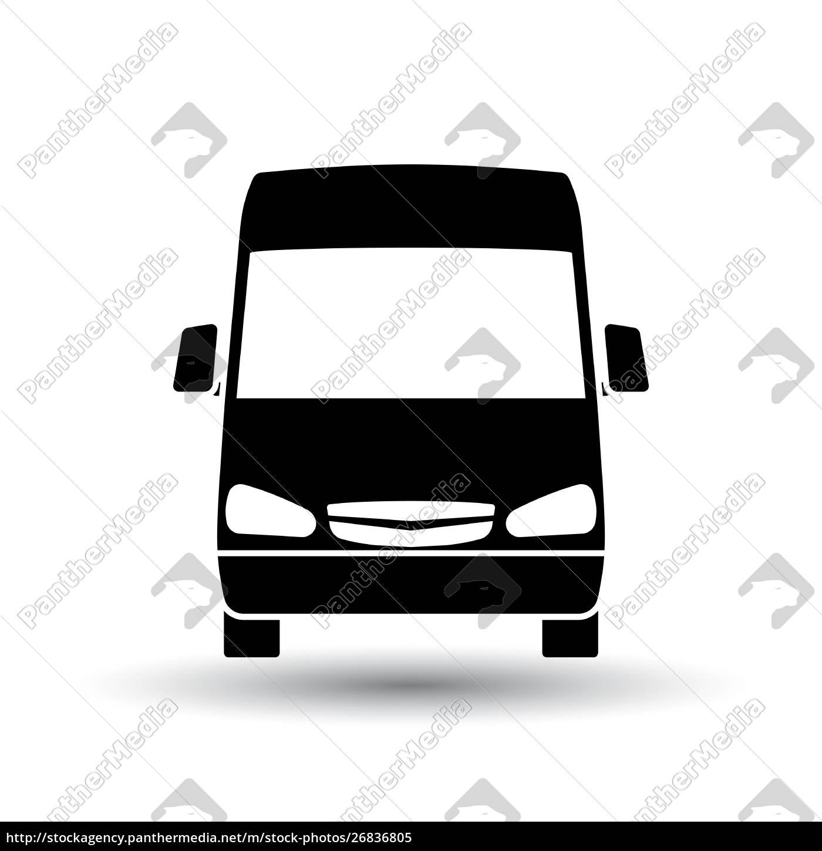 van, icon, front, view - 26836805