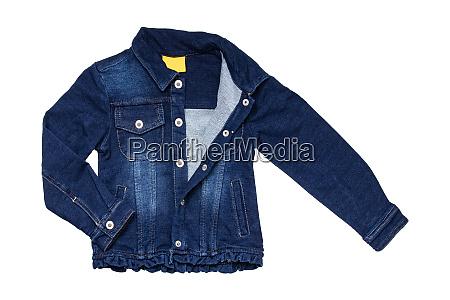 kids jeans jacket isolated a stylish