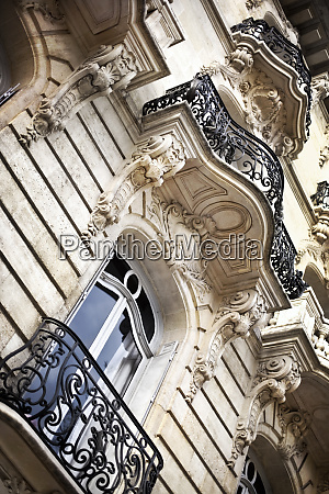 facade of a french mansion