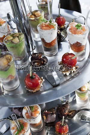 caterer buffet in a cocktail party