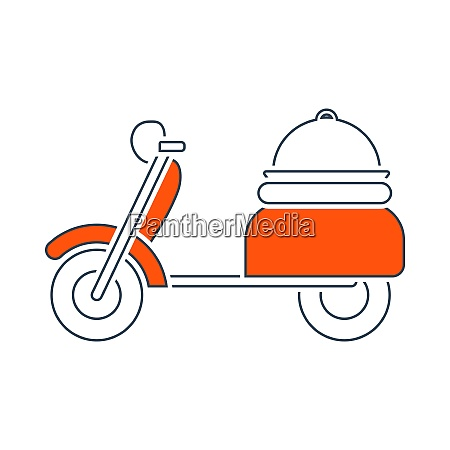 icon of delivering motorcycle