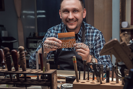 concept of handmade craft production of