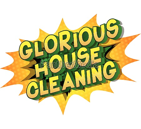 glorious house cleaning comic book