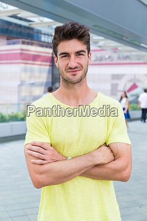 caucasian man portrait at outdoor