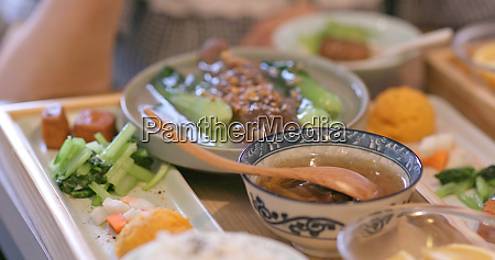 dishes in taiwanese restaurant