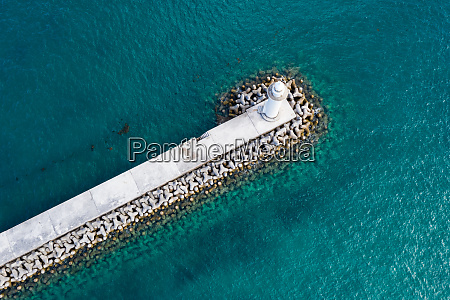 top down view of breakwater and