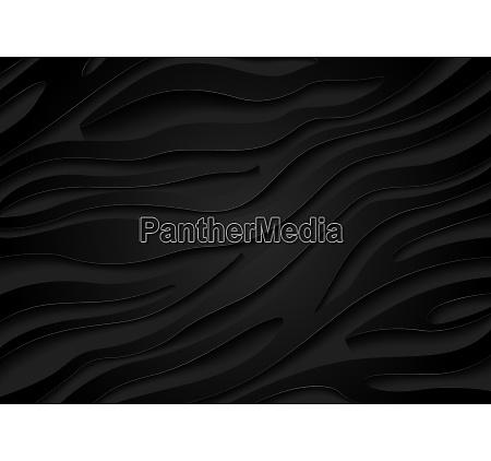 black embossed zebra pattern with 3d