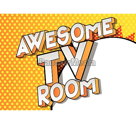 awesome tv room comic book