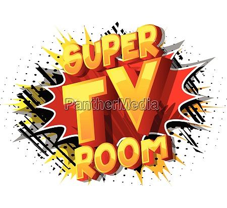 super tv room comic book