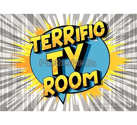 terrific tv room comic book