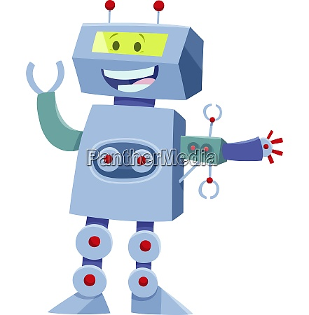 funny robot cartoon comic character