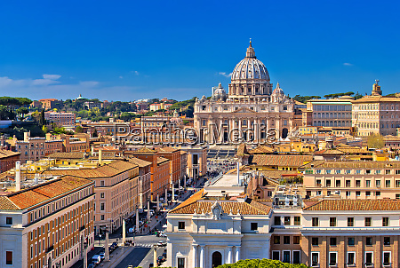 rome rooftops and vatican city landmarks