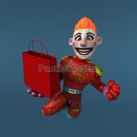 mexican, hero, -, 3d, illustration - 26847346