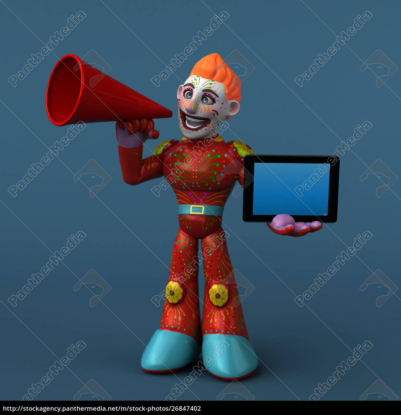 mexican, hero, -, 3d, illustration - 26847402