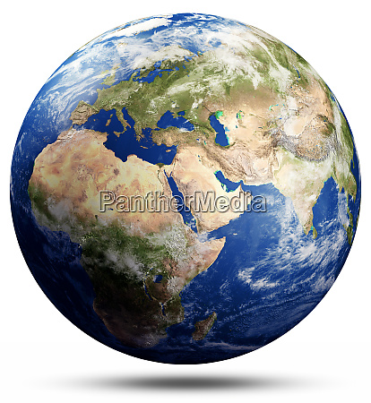 planet earth map globe