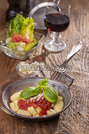 closeup of gnocchi with sauce on