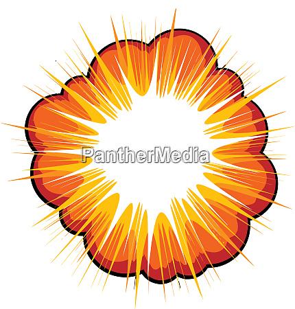 explosion blast blow boom bang orange