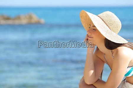 relaxed sunbather enjoying vacation on the
