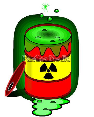 toxic waste barrel radioactive danger posion