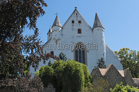 castle church with medieval city wall