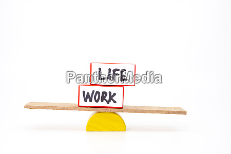 work life balance concept with two