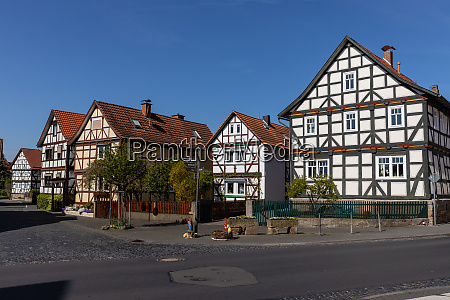 historical half timbered houses in hesse