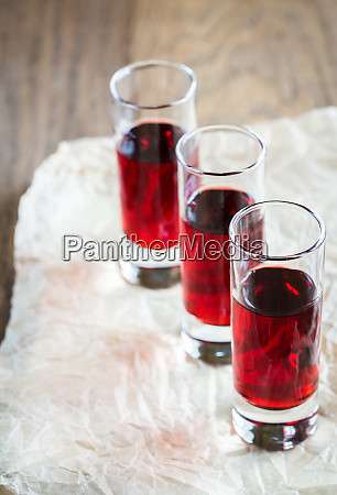 glasses of cherry brandy