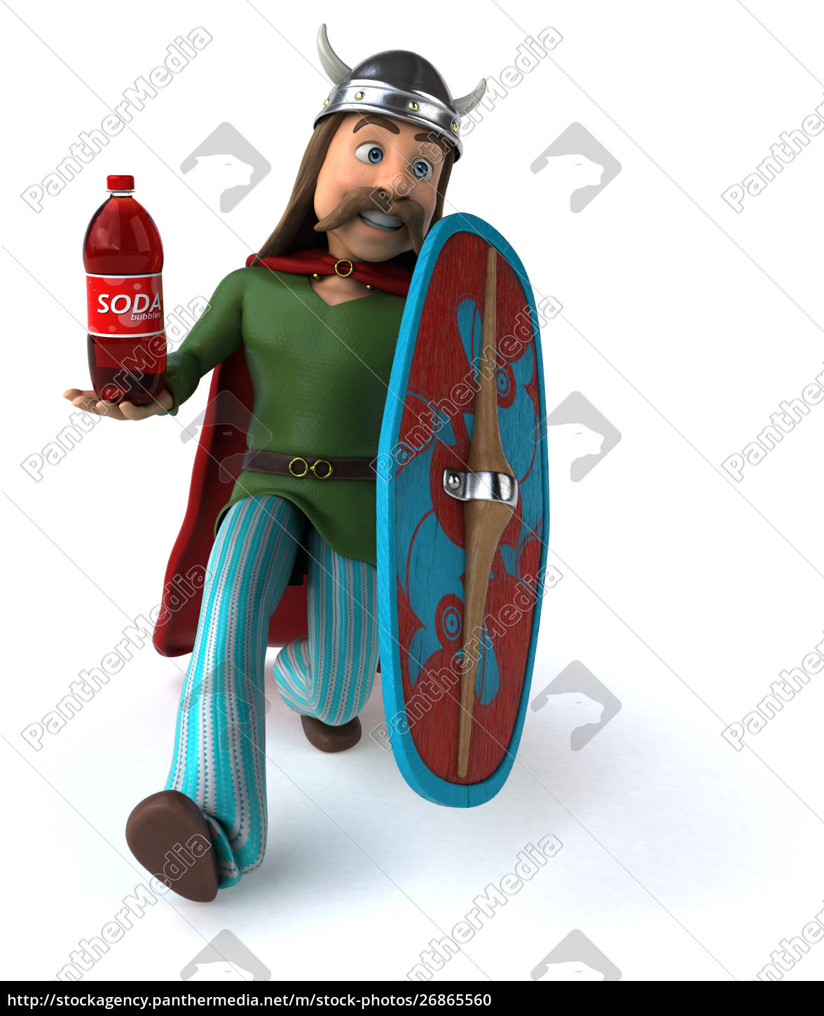 mexican, hero, -, 3d, illustration - 26865560