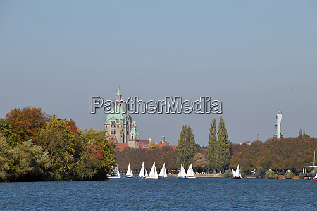 autumn in hannover at the lake