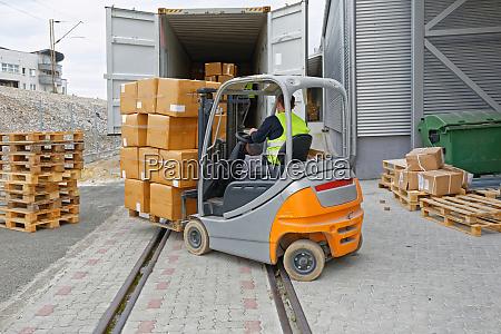 cargo train loading