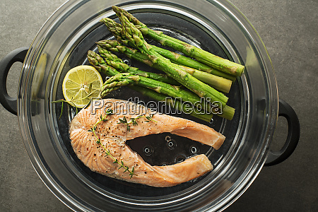 salmon steamed