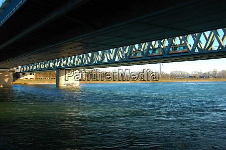 bridge over the river rhine near