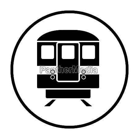 subway train icon front view