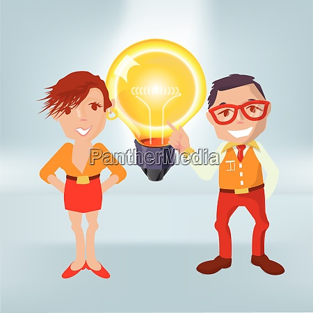 males with a big light bulb
