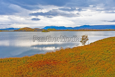 clouds and colors on remote lake