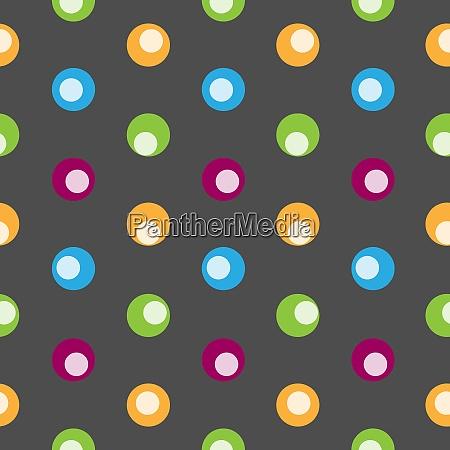 color polka dot abstract seamless pattern