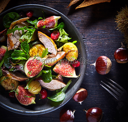 gourmet roast pheasant fig and chestnut
