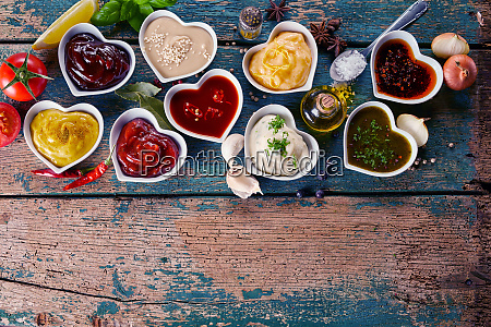 large variety of marinades sauces and