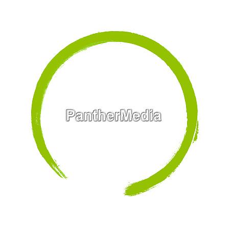hand painted green watercolor circle