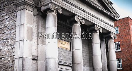 saint paul church architecture detail in