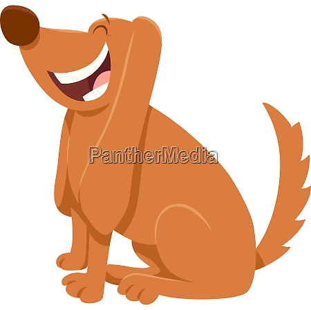 happy brown dog cartoon character