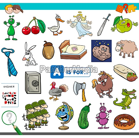 a is for educational task for