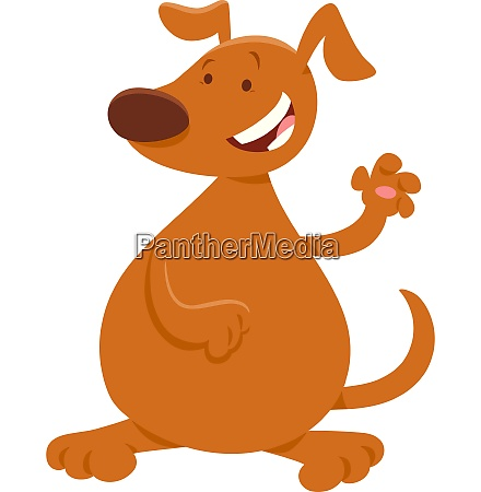 brown dog or puppy cartoon character